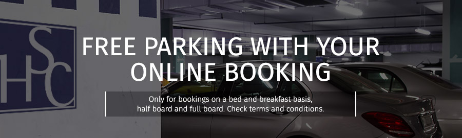 Free parking with your online booking